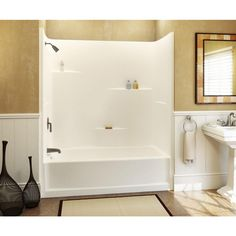 72 tub shower combo. Aquatic 60 In  X 30 72 1 Piece Direct To Stud Tub Shower Wall White Home Inspirations DIY Remodeling Ideas Abqpoly Com Part 65