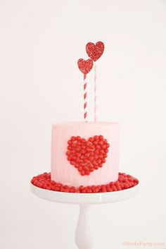Valentine's Day Sweet Heart Cake   a Little Something Extra... by Bird's Party