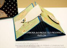 creativEle: Biglietti inviti per PRIMA COMUNIONE : scrapbooking style