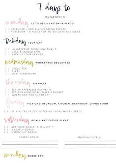 get organised week