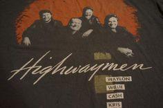 Vintage Highwaymen Johnny Cash Willie Nelson T-Shirt M/L