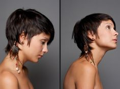 modern definition of feathered hair. -- would love this if I was keeping my hair short.