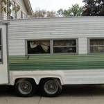 Ideas Repair Small Campers Classic Travel Trailer, If you're going to be residing in your camper fulltime, then you want to be certain that you track down an RV that's right for your lifestyle and your..., #campers #classic #ideas #repair #small #trailer #travel Small Campers, Rv Campers, Camper Trailers, Large Bathrooms, Small Bathroom, Slide In Camper, Travel Camper, Small Trailer, Horse Trailers