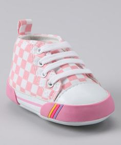 3dfca015d55a Rainbow Kids Pink Checkerboard Hi-Top Sneaker