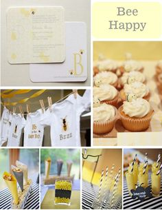 Bee Happy Baby Showers-i love this for a summer baby shower