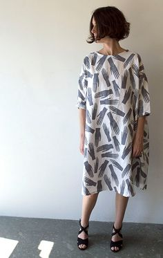 Grey Hands Palmistry Print Linen Dress by Banquet on Etsy
