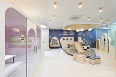 Children's Clinic, Kids Cafe, Interior Architecture, Interior Design, Space Interiors, Kid Spaces, Kids Playing, Playground, Playroom