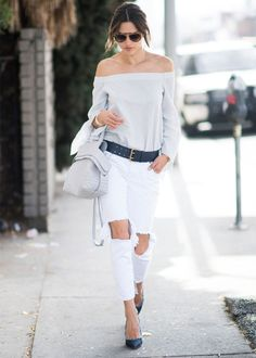 How To Wear White Jeans | StyleCaster