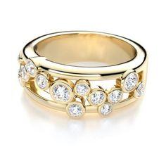 right hand round cut bezel set diamond anniversary ring in 14k yellow gold diamond anniversary band 500x500 Wwww.diamond wave.com