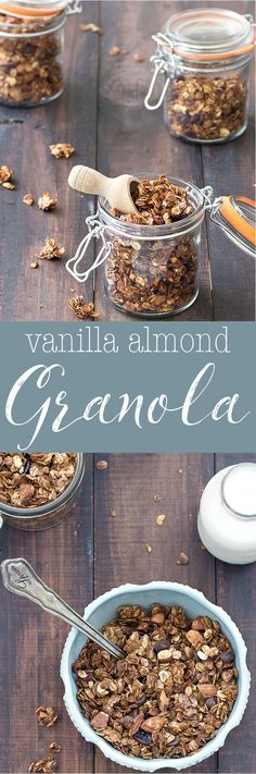 Homemade Vanilla Almond Granola- amazingly delicious and very simple to make