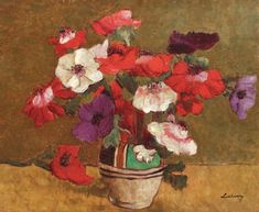 Anemone (Anemones), probably the best-known painting by famous Romanian artist Stefan Luchian, will be put up for sale at an Artmark auction this October. Art Prints For Sale, Fine Art Prints, Most Famous Paintings, Still Life Art, Bouquet, Affordable Art, Art Day, Home Art, Flower Art