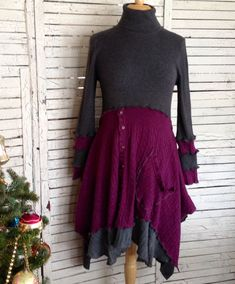 Sweater Tunic or Dress S/M Upcycled Sweater by AnikaDesigns