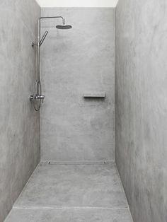 Badezimmerbetonwachs grau - - #badezimmerideen