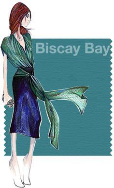 Pantone     Biscay Bay - This shade splashes up against more heated tones with its cool touch, combining the serene qualities of blue with the invigorating aspects of green.