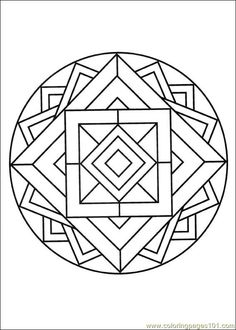 mandalas | Coloring Pages Mandalas 14 (Cartoons  Mandalas) - free printable ...