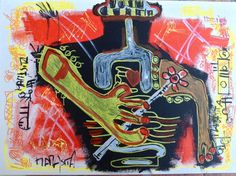Mamasita cm 25x50 marker on canvas