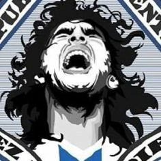 Maradona y el grito sagrado desde el corazon!! Pumas, Cool Posters, Soccer Players, Messi, Hero, Football, Live, Illustration, Fictional Characters