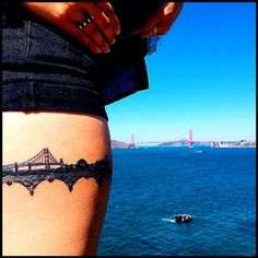 And always have it with you when you return. | 33 Stunning Landscape Tattoos That Will Remind You Of Home