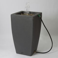 Algreen Madison 49 Gallon Rain Barrel Fountain - $139.99 @hayneedle.com.com Decorative fountain and rain barrel in one-Crafted from strong and durable plastic-Holds up to 49 gallons-Available in your choice of color-Measures 20L x 20W x 35H inches