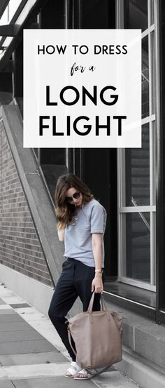 The ultimate comfortable travel outfit for long flights: click through for my go-to athleisure inspired look!