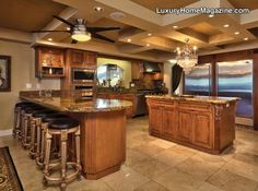 love this kitchen! its almost big enough for ME!!!! ~ and my cooking classes!