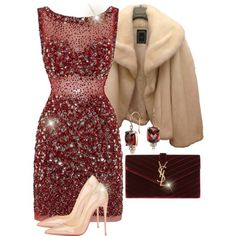 Untitled #1911 by jodilambdin on Polyvore featuring Jovani, Christian Dior, Christian Louboutin, Yves Saint Laurent and Blue Nile