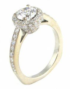 Unique Diamond Halo Engagement Ring