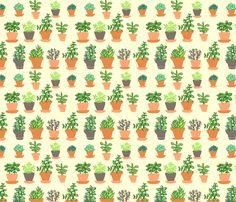 Windowsill Garden MD fabric by hugandkiss on Spoonflower - custom fabric