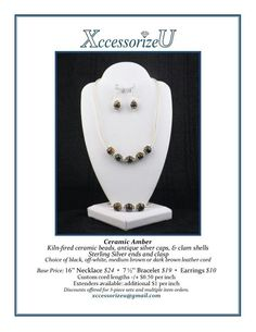 Ceramic Amber Jewelry Set