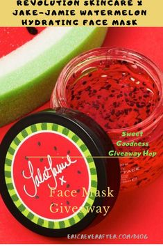 Enter to a jar of pure hydrating sweetness! is hosting a giveaway for the NEW Revolution Skin Care x Jake Jamie Watermelon face mask! Click through to enter today! Homemade Facial Mask, Homemade Facials, Watermelon Face Mask, Sephora, Argan, Facial Masks, Facial Scrubs, Face Serum, Good Skin