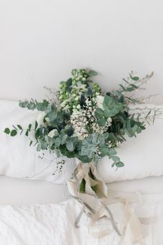 greenery wedding bouquet for 2019 wedding flowers Pretty and Practical Small Wedding Bouquets for 2019 Brides - Page 2 of 2 - Oh Best Day Ever Small Wedding Bouquets, Bride Bouquets, Wedding Greenery, Bouquet Wedding, Greenery Bouquets, Simple Bridesmaid Bouquets, Rustic Wedding, Bridesmaids, Small Garden Wedding
