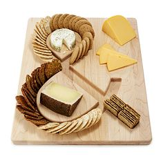 Cheese & crackers serving board... #wooden #board #cheese