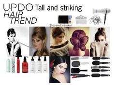 """""""Updo Hair Trend"""" by pernille-sophie ❤ liked on Polyvore featuring beauty, Luxo, Dolce&Gabbana, Balmain, Sexy Hair, Kent, Batiste, Earth Therapeutics, Drybar and GHD"""