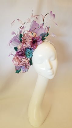 Millinery By Mel Fascinator Diy, Wedding Renewal Vows, Tea Party Hats, Crazy Hats, Races Fashion, Millinery Hats, Diy Hat, Floral Headpiece, Groom Outfit