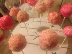Pink cake pops