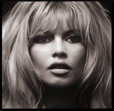 Brigitte Bardot's face up close poster