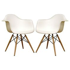 Pascal Plastic Chair - White (Set Of 2) - Baxton Studio : Target