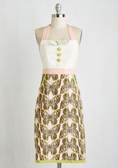 All Good in the Woods Apron in Butterfly $39.99 AT vintagedancer.com