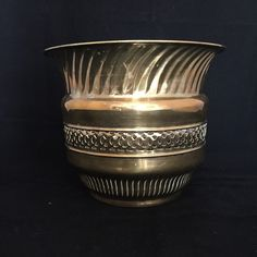 A personal favorite from my Etsy shop https://www.etsy.com/ca/listing/244326210/brass-planter-solid-brass-large-ornate