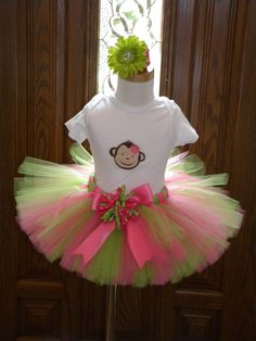 Mod Monkey Hot Pink and Lime Green  THIS IS SUPER CUTE