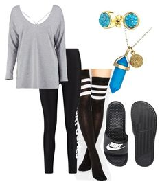 """Untitled #271"" by prettydammwreckless on Polyvore featuring 7X, Boohoo, NIKE, Bling Jewelry and Dee Berkley"