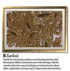 Exquisite Embroideries- Zardosi