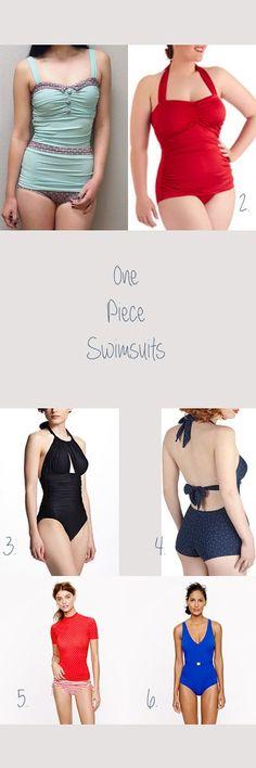 Summer Swimwear - One Piece Swimsuits