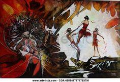 Comprar The power of dance -2017 - Pintura de Jose Raul Rodriguez Cuevas por 12.794,00 EUR en Artelista.com, con gastos de envío y devolución gratuitos a todo el mundo