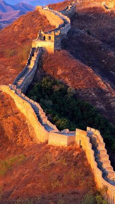 Great Wall of China - 1 of the wonders of the World . Also the only structure on Earth that can be seen from the Moon .