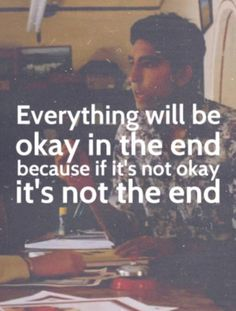 Take heart on the bad days...it is not the end.
