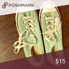 Women's mint green converse Good condition Converse Shoes Sneakers