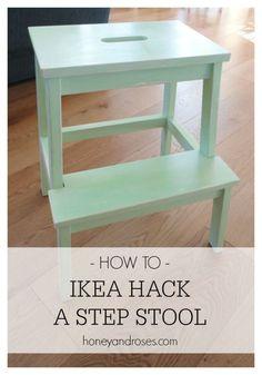 How To Ikea Hack a Step Stool