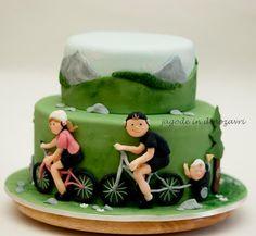 TORTE - Jagode in dinozavri Kids Birthday Themes, 40th Birthday Cakes, Mountain Bike Cake, Mountain Biking, Beautiful Cakes, Amazing Cakes, Sports Themed Cakes, Bike Cakes, Sport Cakes
