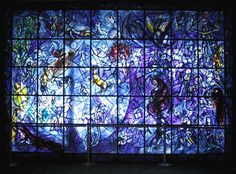 Marc Chagall Stained-glass windows - Beauty will save Stained Glass Angel, Stained Glass Windows, Reims Cathedral, Chagall Paintings, New York City Manhattan, Marc Chagall, White Doves, Sacred Art, Stone Painting